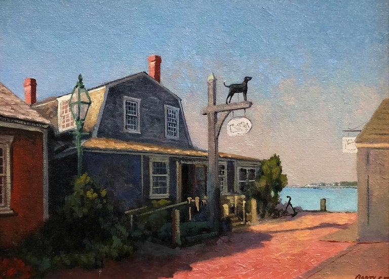 Harley Bartlett Landscape Painting - The Black Dog, Martha's Vineyard, Massachusetts