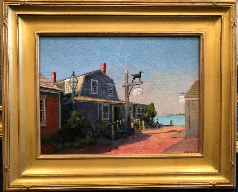 The Black Dog, Martha's Vineyard, Massachusetts - Painting by Harley Bartlett