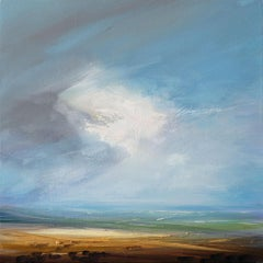 Misty Horizon original landscape painting