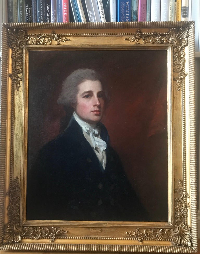 Portrait of Mr Holland, c. 1785 - Old Masters Painting by George Romney