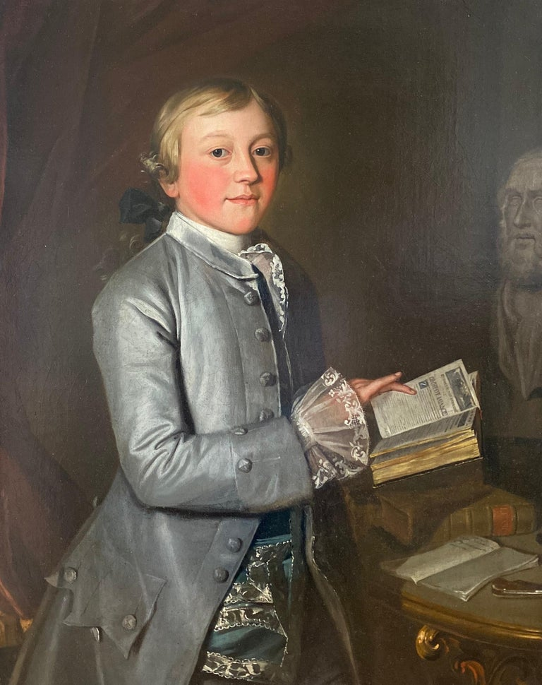 Christopher Steele Portrait Painting - English 18th Century Portrait of Giles Moore