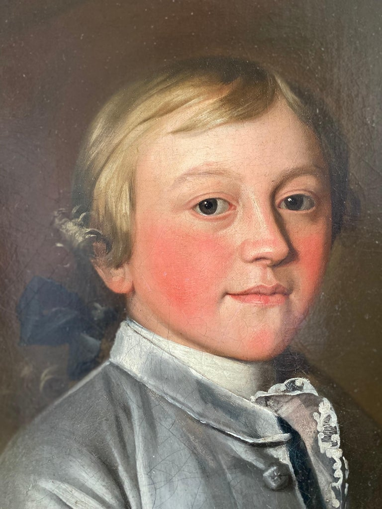 English 18th Century Portrait of Giles Moore - Painting by Christopher Steele