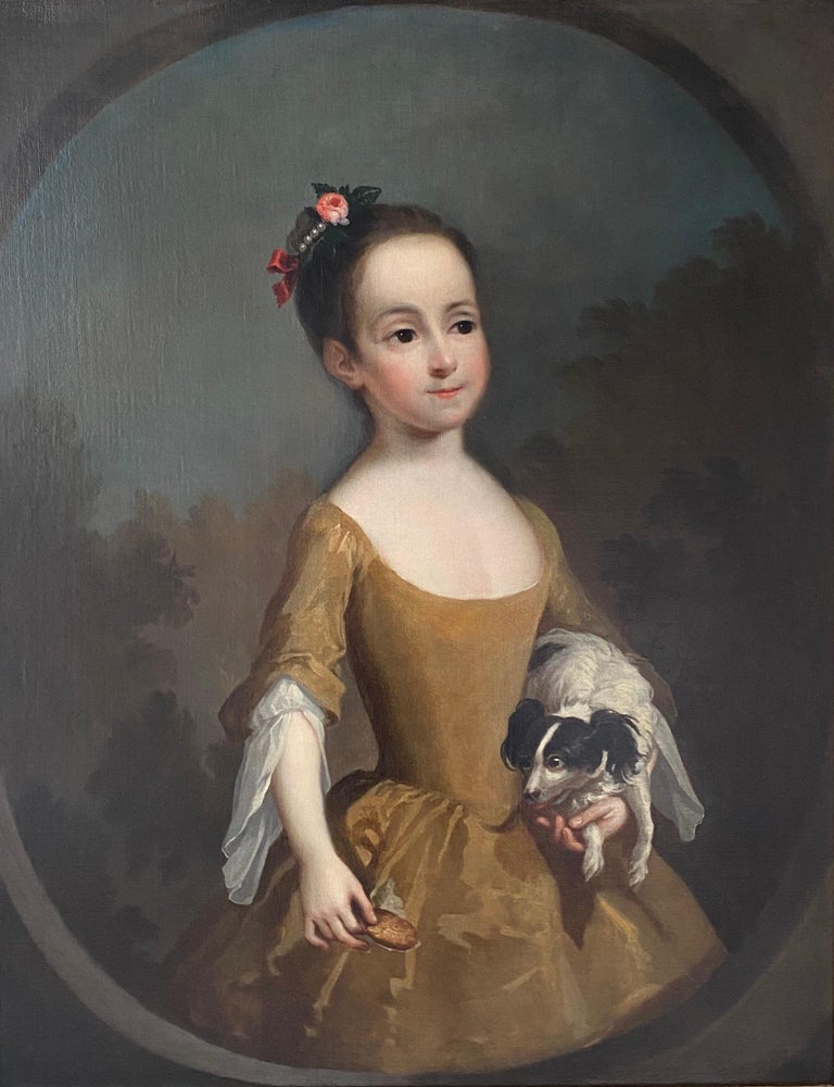 <i>Portrait of Katherine Miller and Her Spaniel</i>, ca. 1725, by Circle of George Knapton, offered by Isherwood Fine Art