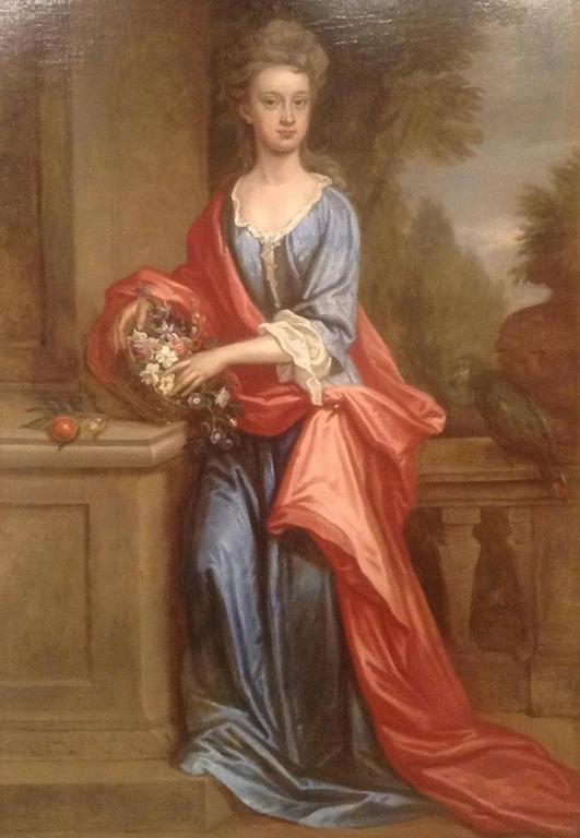 John Baptist De Medina Portrait Painting - Portrait of Lady Katherine Anne Erskine