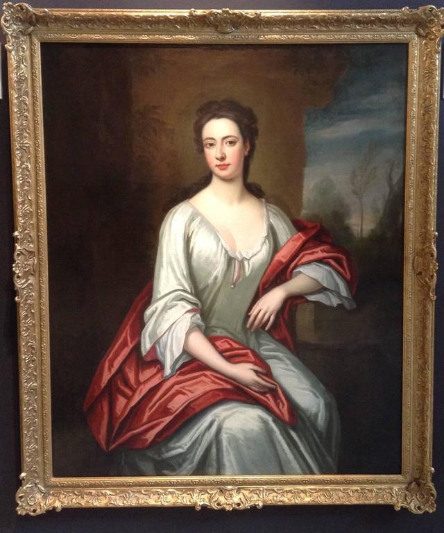 Portrait of a Lady  - Black Portrait Painting by Enoch Seeman