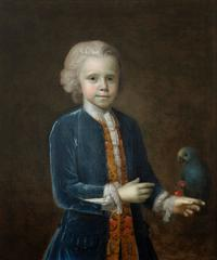Portrait of a Boy with Parrot
