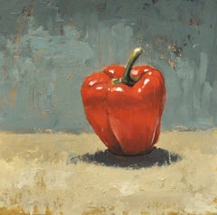 """John McCormick, """"Ode to Common Things, Pepper #2,"""" 2017, oil on panel, 12"""" x 12"""""""