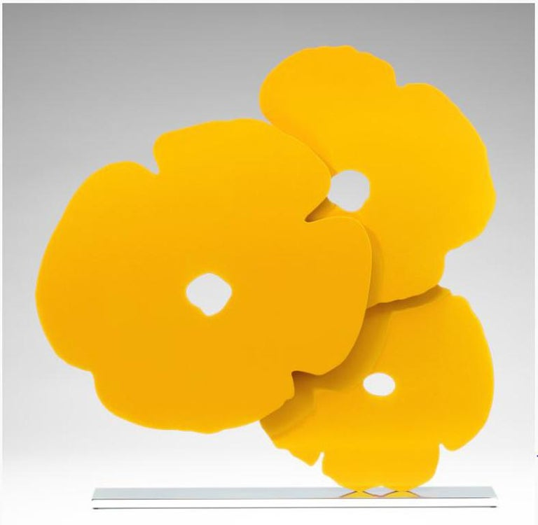 Donald sultan yellow poppies sculpture for sale at 1stdibs donald sultan abstract sculpture yellow poppies mightylinksfo