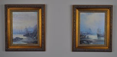 Pair of oil on wood panel, Whitby/Scarborough
