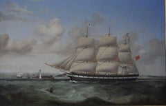 The full-rigged merchantman Ebba Brahe, in-bound for Liverpool