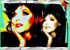 Joan Collins 1 Mixed Media 5 (...a large canvas; see below for other sizes)