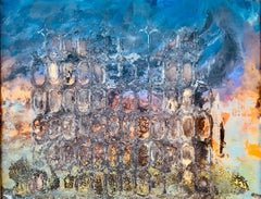 Original painting over glass On the edge of the visible (1) by Vova Zayichenko