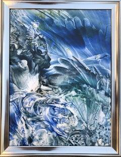 Painting Lady Swan by Vova Zayichenko, acrylic, paper, framed 40x30cm