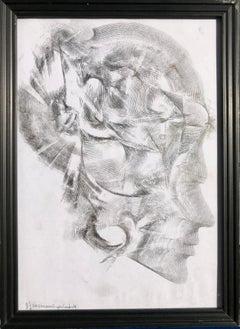 Graphite drawing LR9B53906B Kensington London UK 30x20cm by Vova Zayichenko