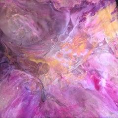 VIBRANT MAGENTA oil painting on acrylic glass by Vova Zayichenko
