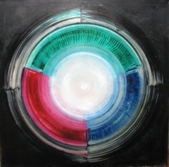 Oil on canvas painting RGB Live Apperception by Volodymyr Zayichenko