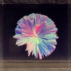Contemporary digital 3D art on selfstanding acrylic glass, Indigo series #4502,
