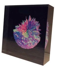 Contemporary digital 3D art on selfstanding acrylic glass, Indigo Series #4503