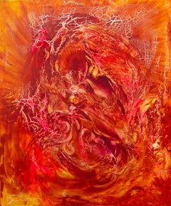 Abstract painting on canvas by Volodymyr Zayichenko