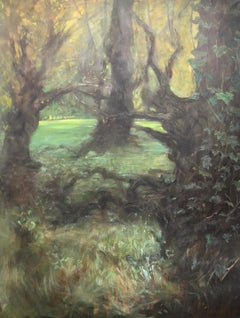 Forest painting on canvas 130x100cm by Volodymyr Zayichenko