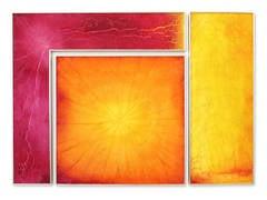 """Tropikos II"", Decorative Reverse Painted Glass by Cassandria Blackmore, 2014"