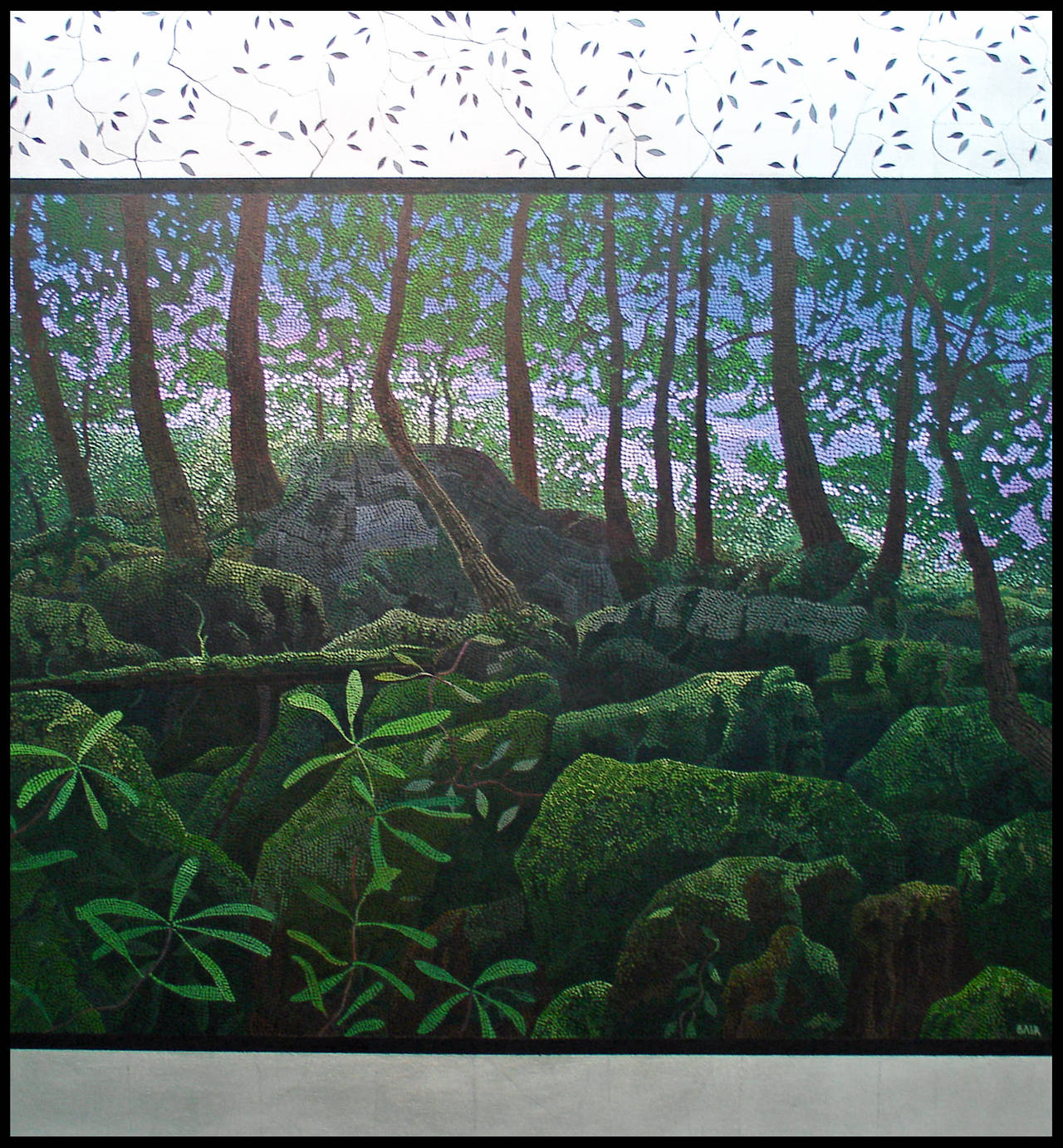 """Miles Bair - """"Dawning"""", Oil Painting on Stretched Canvas with Silver Leafing 1"""