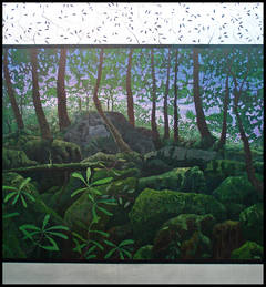 """Dawning"", Oil Painting on Stretched Canvas with Silver Leafing"