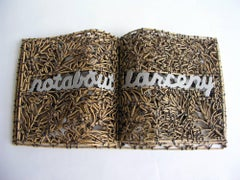 Book of Larceny by John McQueen, Sculpture Made of Sticks & String