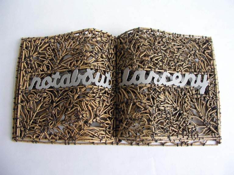 <i>Book of Larceny</i>, 2011, by John McQueen, offered by Duane Reed Gallery