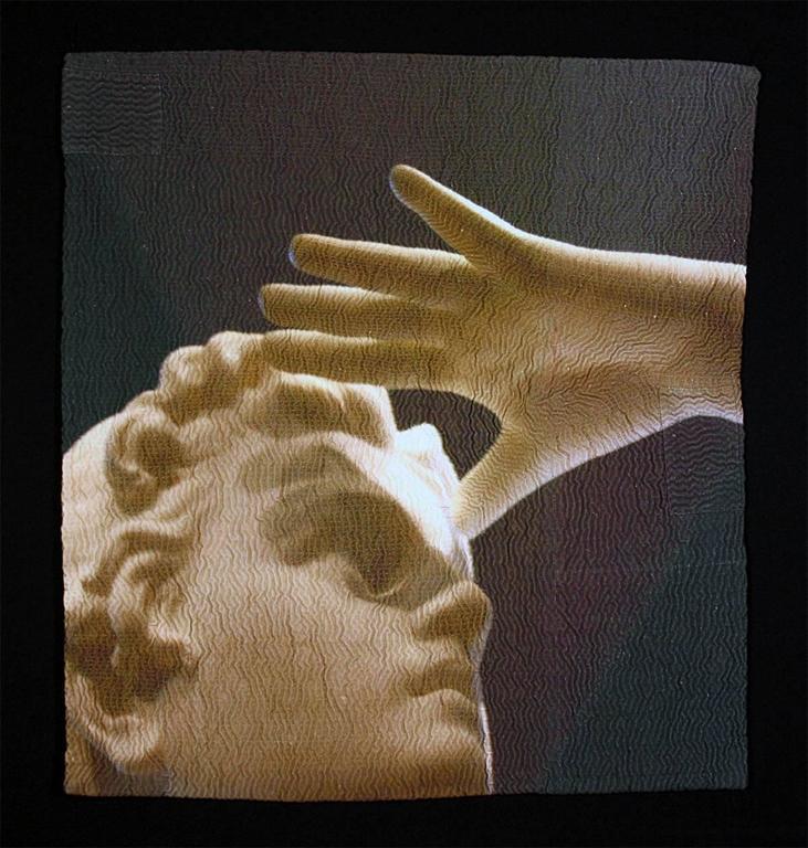 """Seek"", Digital Photography Print on Hand Stitched Fabric, Framed"