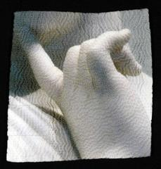 """Perhaps"", Digital Print Photography on Hand Stitched Fabric"