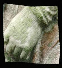 Moss by Luanne Rimel, Digital Print on Hand Stitched Fabric, Framed