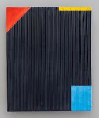 Jun Kaneko - Untitled Raku Wall Slab by Jun Kaneko, Hand Glazed Ceramics with Pattern, 2013