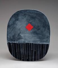 Jun Kaneko - Untitled Oval Slab Form by Jun Kaneko, Ceramic and Glazing with Patterning, 2011