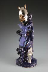 Blue Boy by Paul McMullan, Collaged Ceramic, Glaze, and Luster, created 2014