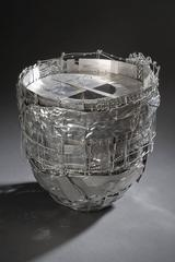New Age Constellation by John Garrett, Steel and Aluminum Constructed Basket