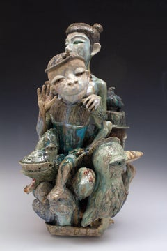 """Year of the Monkey"", Contemporary, Porcelain, Ceramic, Sculpture, Figurative"