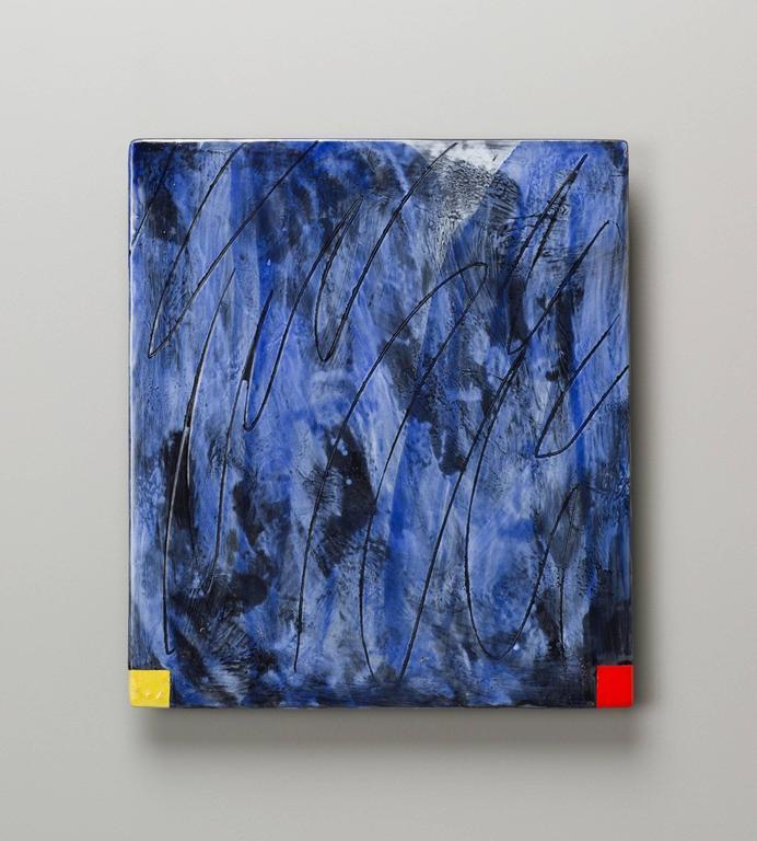 Jun Kaneko - Untitled Raku Wall Slab 1