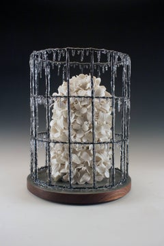"""Blanc Buisson"", Contemporary, Porcelain, Mixed Media, Sculpture, Resin, Wood"