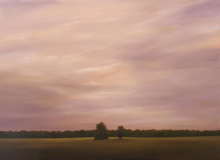 Ahzad Bogosian Landscape Painting - Field and Clouds