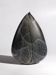 """Metropolis"", Blown Glass Sculpture with Acid Etched Finish"
