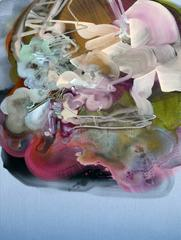 Sweet Cloud by Dana Oldfather, Abstract Oil Painting on Stretched Linen