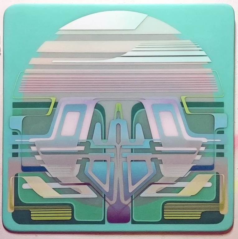 Francesco Lo Castro - Oracle X by Francesco Lo Castro, Acrylic Layered Between Resin on MDF 1