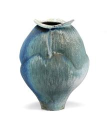 Wood Fired Porcelain with Shino Glaze and Iron Inclusions, Wood Fired