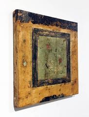 """Quadrati MMII-II"" , Minimalist Abstract Fresco on Linen"