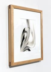 """Book 41"" , Silver Gelatin Print, Black and White Abstract Photography, Framed"
