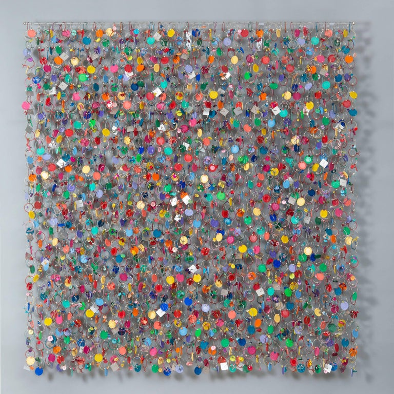 """Meadow Shimmer"", Mixed Media Wall Sculpture"