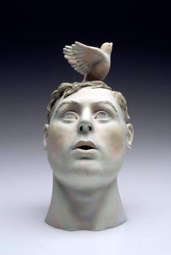 """""""Flight"""", Ceramic Sculpture Painted with Acrylics"""