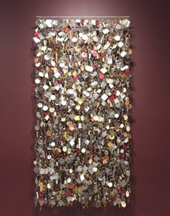 Contemporary Mixed Media Wall Sculpture, Assembled Found Objects, Installation