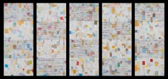 """""""Notes"""", Wall Sculpture Composed of Postmarked Envelope Paper and Mixed Media"""